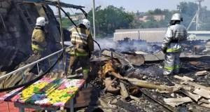 Пожар в Феодосии: горел частный дом - была угроза взрыва