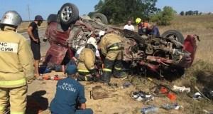 В ДТП в Сакском районе пострадали шесть человек. Авто всмятку