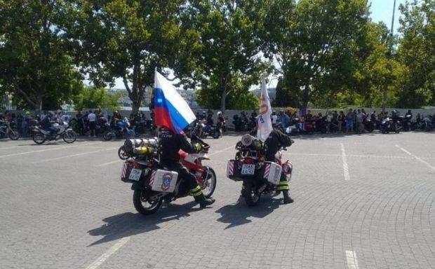 Сотрудники МЧС обеспечивают безопасность проведения Байк-шоу в Севастополе