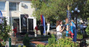 В Советском районе Крыма открыли мемориал погибшим в Великой Отечественной войне воинам