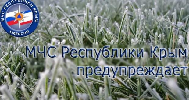 МЧС предупреждает о ночных заморозках в Крыму