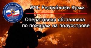 Пожар в Пионерском, под Симферополем и еще 10 возгораний. «Огненная» сводка минувших суток