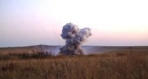 Крымские спасатели в Ленинском районе уничтожили бомбу времен Великой Отечественной войны
