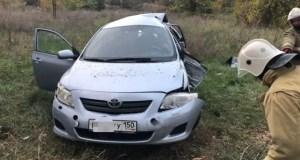 Вечернее ДТП в Сакском районе - «Toyota Corolla» ушла в кювет