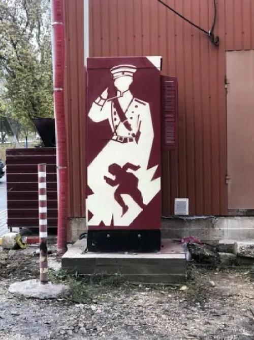 В Симферополе презентовали раскрашенные граффити объекты связи