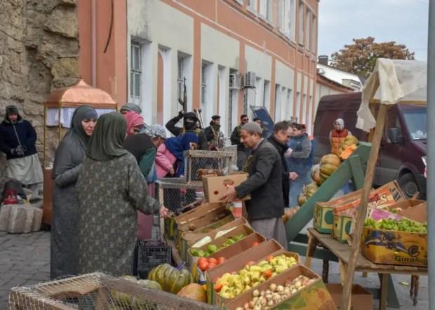 В Евпатории снимают фильм о военных корреспондентах