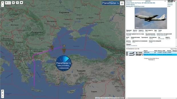 Российский истребитель «отгонял» американского шпиона от Крыма
