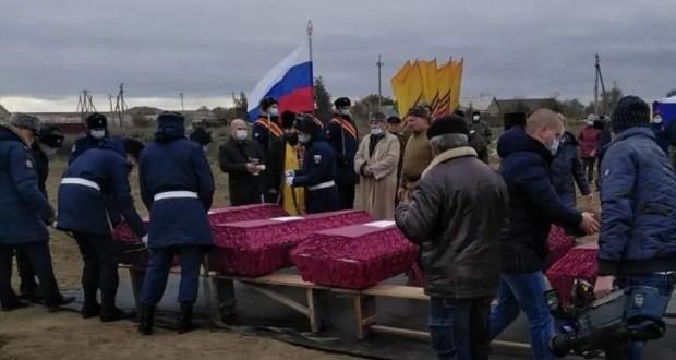 В Кировском районе перезахоронили останки 33 воинов Великой Отечественной