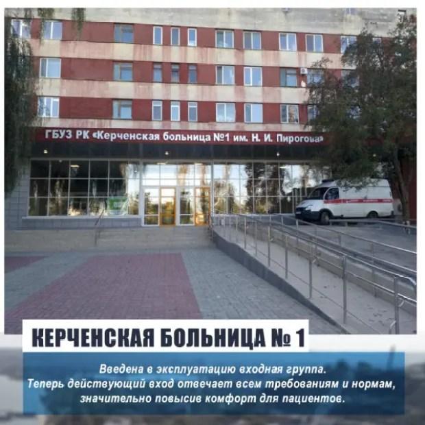 В керченской горбольнице № 1 продолжается капитальный ремонт