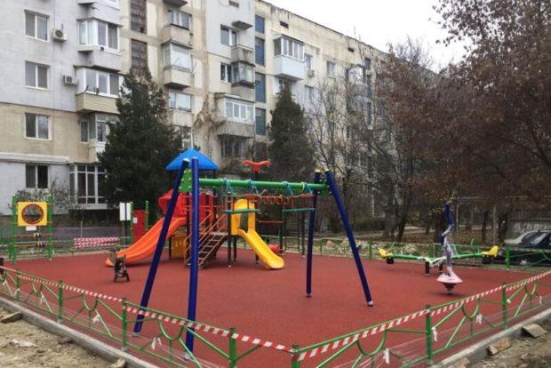 Новые детские площадки для маленьких симферопольцев
