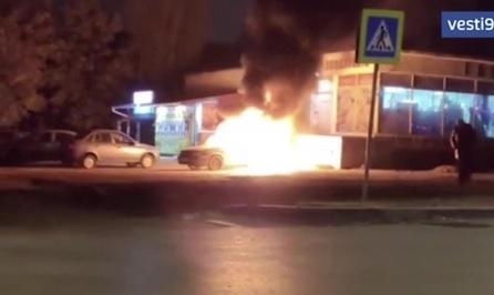 В Симферополе полицейские задержали подозреваемых в краже и поджоге автомобиля