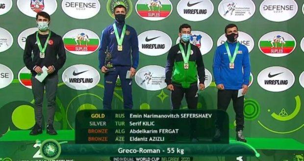 Эмин Сефершаев из Симферополя - обладатель Кубка мира по греко-римской борьбе