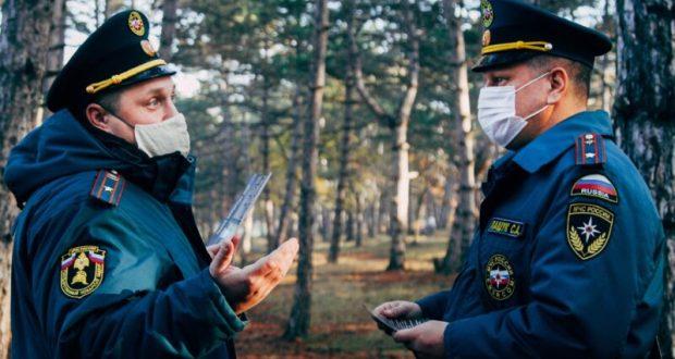 Зима зимой, а инспекторы МЧС в Севастополе продолжают рейды, направленные на недопущение пожаров в лесах