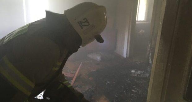 Пожар в Бахчисарае - едва не погиб мужчина