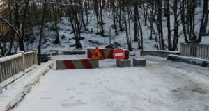 Дорога на Ай-Петри со стооны Соколиного перекрыта из-за оползня