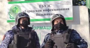 В Севастополе в инфекционной больнице посетитель угрожал ножом сотруднику учреждения