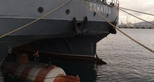 Экипаж спасательного судна Черноморского флота «Коммуна» выполнил спуск аппарата АС-28 в море