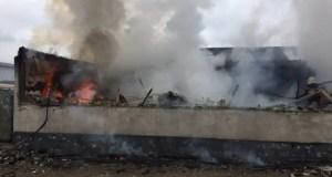 В Севастополе тушили крупный пожар