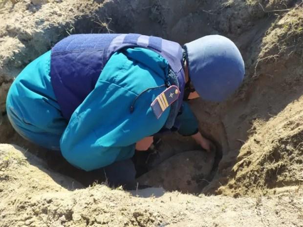 В Ленинском районе Крыма уничтожены взрывоопасные предметы