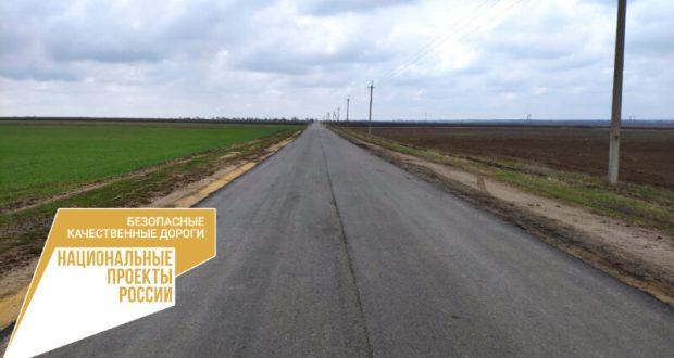 В Крыму идет ремонт дороги «Котельниково – Краснознаменка» в Красногвардейском районе