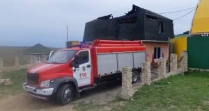 Крымские огнеборцы ликвидировали пожар в Черноморском районе