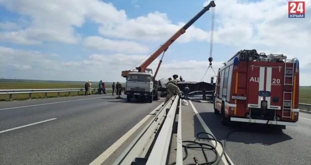 Движение по трассе «Таврида» (перекрытое из-за утреннего ДТП с фурой) возобновлено