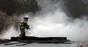 Пожар в Любимовке, на Северной стороне Севастополя. Пострадал один человек