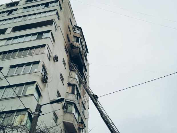 Утренний пожар в Севастополе – горела квартира на 9-м этаже многоквартирного дома