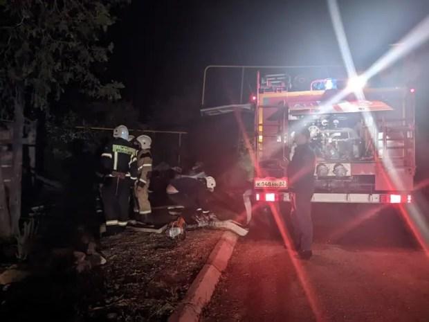 На пожаре крымском селе Табачное погиб человек