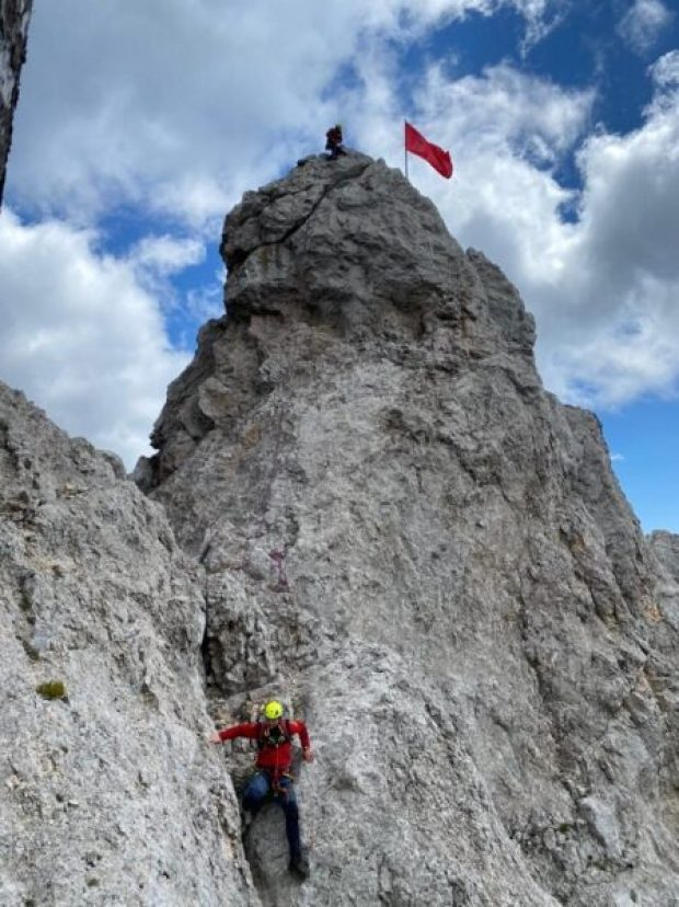 Над Ай-Петри снова взвилось Знамя Победы
