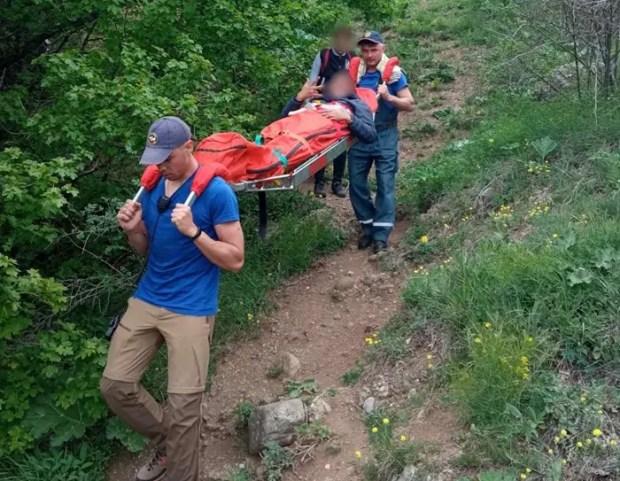Еще одно происшествие на горе Демерджи: подросток повредил ногу
