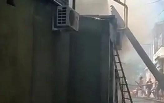 Утренний пожар в Гурзуфе: горели дом и кипарисы