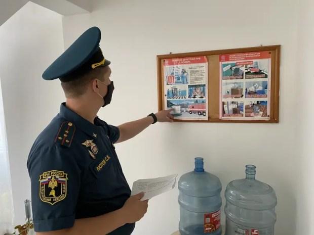 Сотрудники ГУ МЧС России по РК проверяют детские оздоровительные лагеря