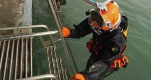 Водолазы Черноморского флота провели учебные погружения на глубину 40 метров
