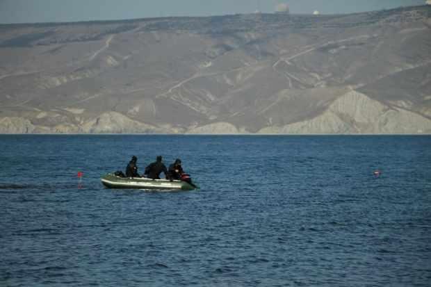 250-килограммовую авиабомбу подорвали в море, у берега крымского поселка Орджоникидзе
