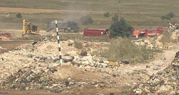 Возгорание на мусорном полигоне под Евпаторией полностью ликвидировано