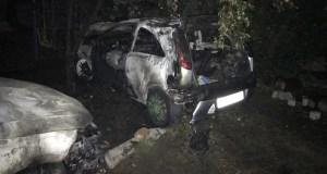 Два автомобиля сгорели этой ночью в Симферопольском районе