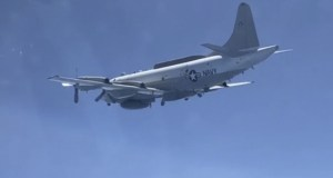 Российский Су-30 сопроводил в небе над Черным морем самолет радиотехнической разведки ВВС США