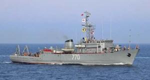 Экипаж морского тральщика ЧФ «Валентин Пикуль» отработал противоминные действия в Керченском проливе