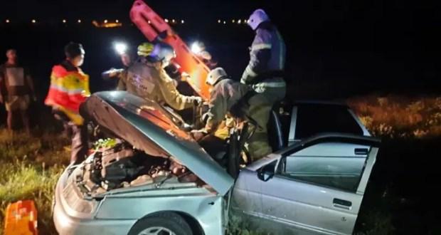 Вечернее ДТП под Симферополем - пятеро пострадавших