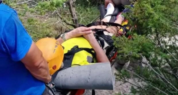 Женщина получила травму, взбираясь на гору Тепе-Кермен в Бахчисарайском районе Крыма