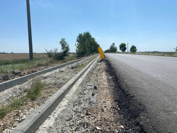 На участке автодороги «Первомайское – Воинка» на севере Крыма завершается ремонт