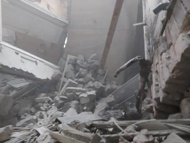 В центре Симферополя обрушилась стена здания филармонии. В обстоятельствах инцидента разбираются силовики