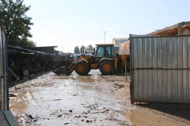 Как в Керчи идет расчистка русла реки Восточный Булганак