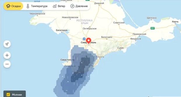 В Крыму объявлено штормовое предупреждение: ожидаются ливни, град, шквалы