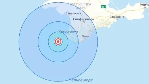 Накануне вечером в Черном море, близ берегов Крымского полуострова произошло землетрясение