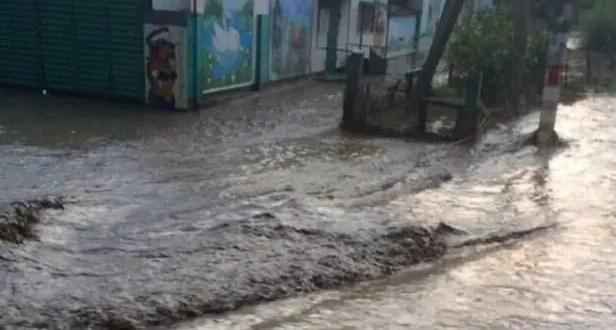 В Ленинском районе Крыма подтопило село Красногорка
