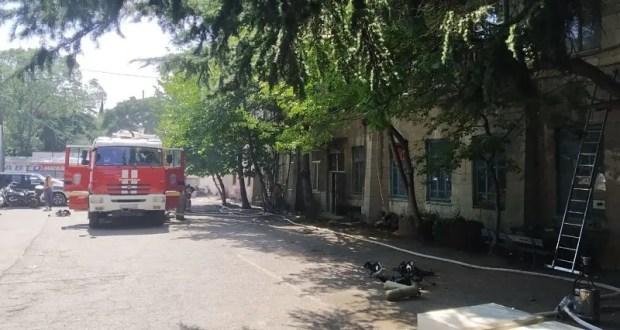 Пожар в Ялте тушили почти четыре часа