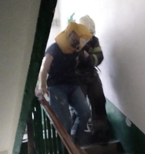 На пожаре в симферопольском посёлке Грэсовский эвакуировали 20 человек