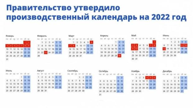 Заглянем в 2022 год: какие дни будут выходными и праздничными, сколько отдыхать